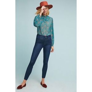 Anthropologie Pilcro High Rise Skinny Blue Jeans